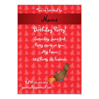 Personalized name platypus red christmas trees personalized announcement