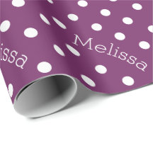 Personalized Name Polka Dot Wrapping Paper