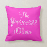 Personalized Name Princess Olivia Pillow