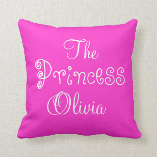 Personalized Name Princess Olivia Pillow