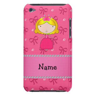 Personalized name princess pink bows and diamonds barely there iPod cover