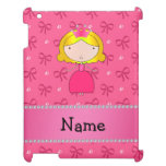 Personalized name princess pink bows and diamonds iPad covers
