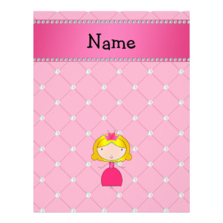 Personalized name princess pink diamonds flyers