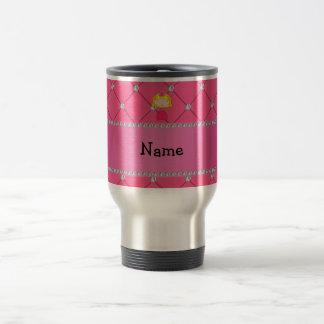 Personalized name princess pink diamonds coffee mugs
