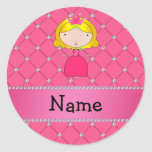 Personalized name princess pink diamonds stickers