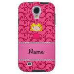 Personalized name princess pink swirls
