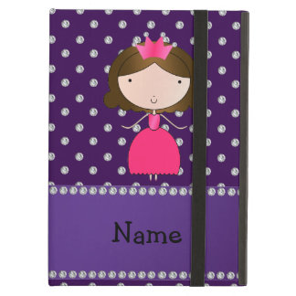 Personalized name princess purple diamonds iPad cover