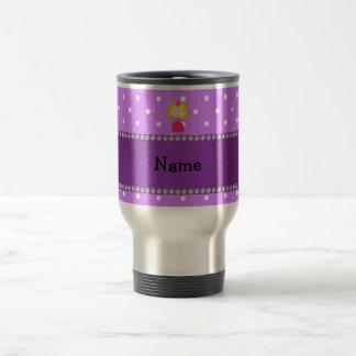 Personalized name princess purple polka dots coffee mugs