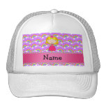 Personalized name princess purple rainbows mesh hats