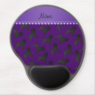 Personalized name purple affenpinscher dogs gel mouse pad
