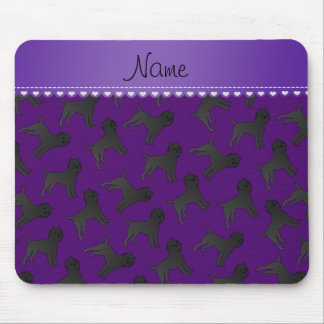 Personalized name purple affenpinscher dogs mouse pad