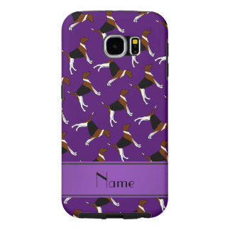 Personalized name purple american foxhound dogs samsung galaxy s6 cases
