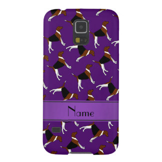 Personalized name purple american foxhound dogs cases for galaxy s5