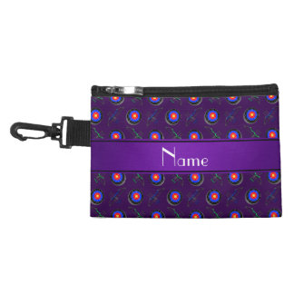 Personalized name purple archery accessories bag