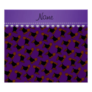 Personalized name purple australian terrier dogs poster