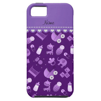 Personalized name purple baby animals iPhone SE/5/5s case