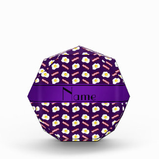 Personalized name purple bacon eggs acrylic award