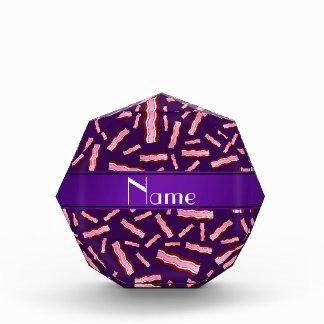 Personalized name purple bacon pattern award