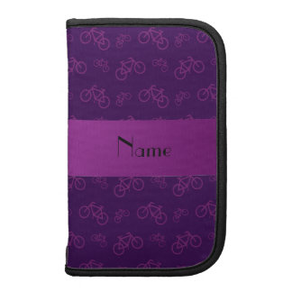 Personalized name purple bicycle pattern organizers