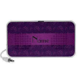 Personalized name purple bicycle pattern travel speaker