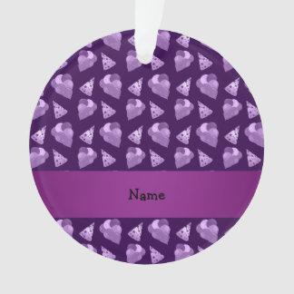 Personalized name purple birthday pattern
