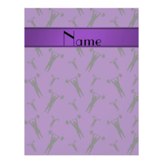 """Personalized name purple black weightlifting 8.5"""" x 11"""" flyer"""