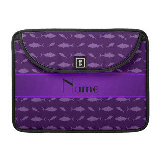 Personalized name purple bluefin tuna pattern sleeves for MacBook pro