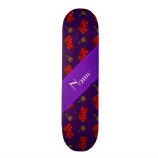 Personalized name purple boxing pattern skateboard decks