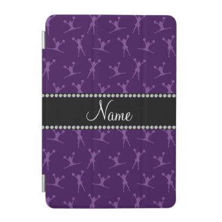 Personalized name purple cheerleader pattern iPad mini cover