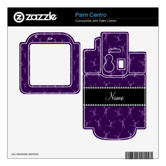Personalized name purple cheerleader pattern decal for the palm centro