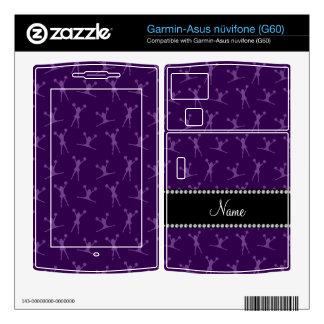 Personalized name purple cheerleader pattern garmin asus nuvifone skin