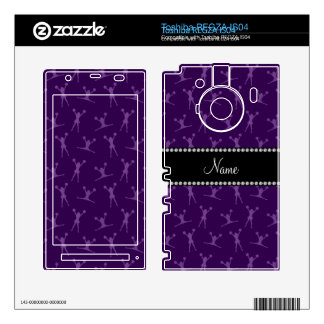 Personalized name purple cheerleader pattern skins for toshiba REGZA