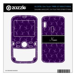 Personalized name purple cheerleader pattern ALCATEL tribe skin