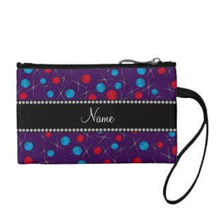 Personalized name purple crochet pattern coin purse
