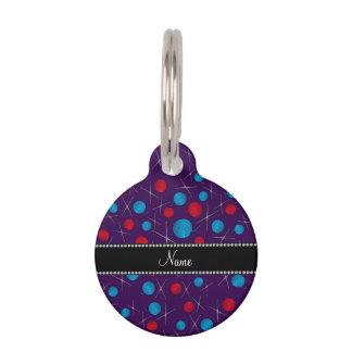 Personalized name purple crochet pattern pet name tags