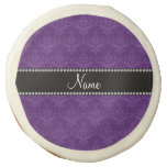 Personalized name Purple damask Sugar Cookie