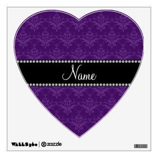 Personalized name Purple damask Wall Decor