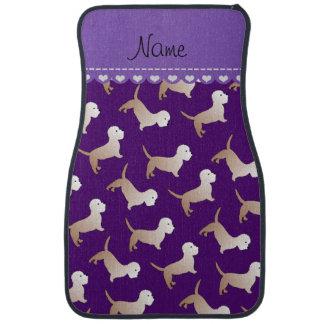 Personalized name purple dandie dinmont terriers car floor mat