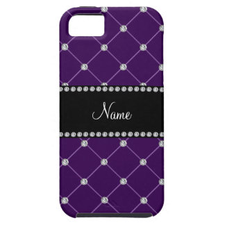 Personalized name Purple diamonds iPhone 5 Cover