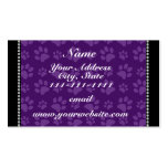 Personalized name purple dog paw prints Double-Sided standard business cards (Pack of 100)