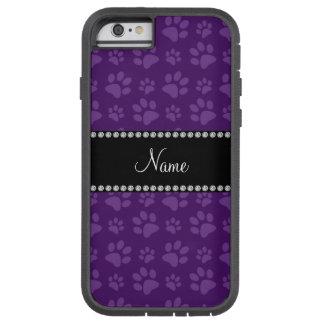 Personalized name purple dog paw prints tough xtreme iPhone 6 case
