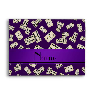 Personalized name purple dominos envelope