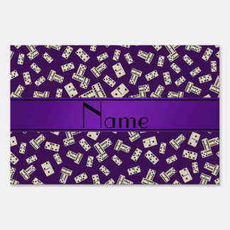 Personalized name purple dominos sign