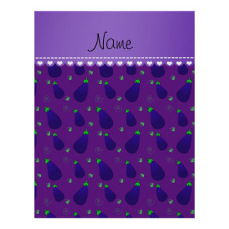 "Personalized name purple eggplants 8.5"" x 11"" flyer"