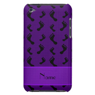 Personalized name purple feet iPod Case-Mate case