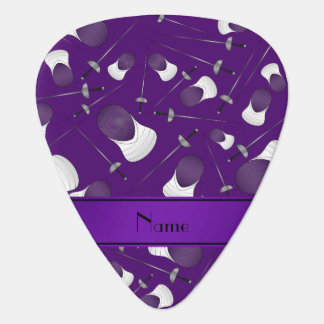 Personalized name purple fencing pattern pick