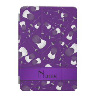 Personalized name purple fencing pattern iPad mini cover