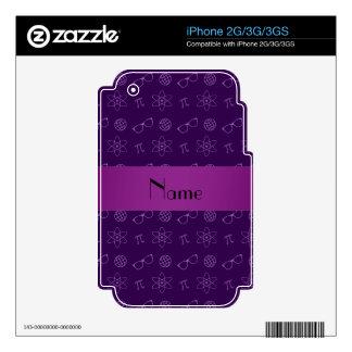 Personalized name purple geek pattern iPhone 2G skin