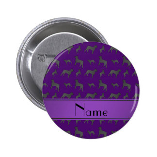 Personalized name purple Giant Schnauzer dogs 2 Inch Round Button