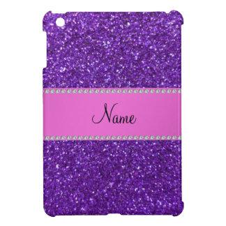 Personalized name purple glitter diamonds cover for the iPad mini